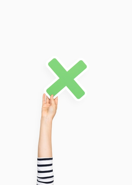 Hand, die vermehrungssymbol hält Kostenlose Fotos