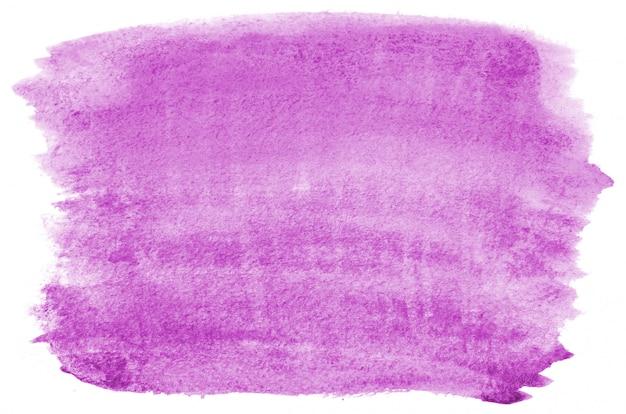 Hand gezeichnete purpurrote aquarellform für ihr design. kreativer gemalter hintergrund, handgemachte dekoration Premium Fotos