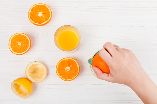 Hand machen orangensaft Kostenlose Fotos