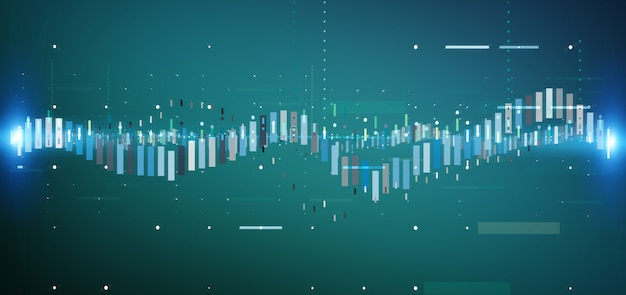 Handelsdateninformationen der geschäftsbörse Premium Fotos