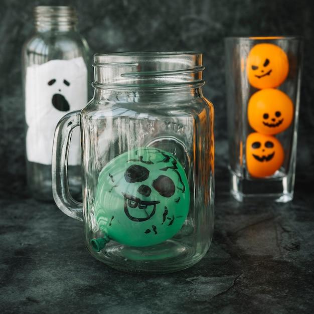 Handgemachte dekorationen für halloween Kostenlose Fotos