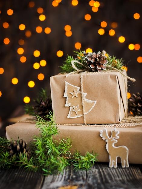 Handgemachtes geschenk für weihnachten Premium Fotos