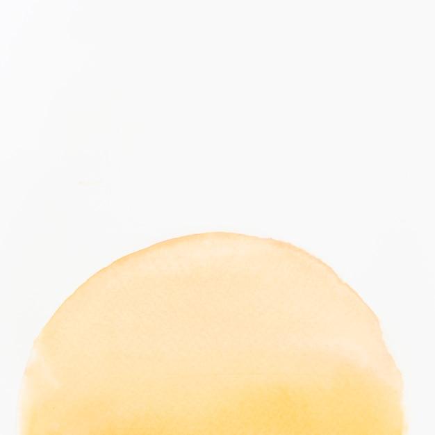 Handgemalte halb kreisformgestaltungselemente des aquarells auf weißem hintergrund Kostenlose Fotos
