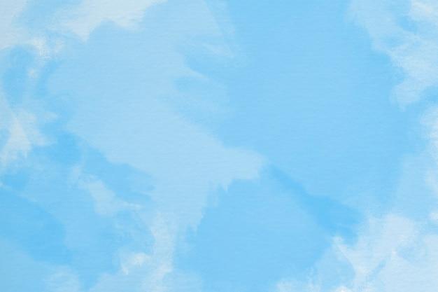 Handgemalter aquarellhintergrund mit himmel und wolkenform Kostenlose Fotos
