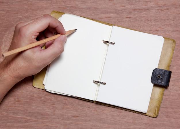 Handschrift leere notiz Premium Fotos
