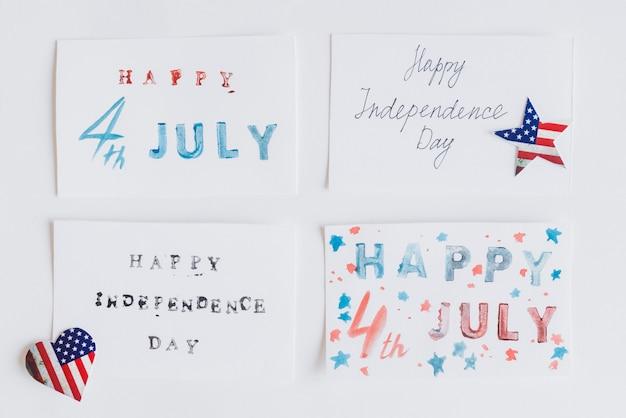 Happy 4. juli auf karten schreiben Kostenlose Fotos
