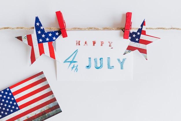 Happy 4. juli zeichen zwischen sternen Kostenlose Fotos