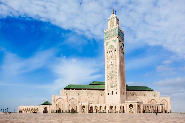 Hassan ii moschee Premium Fotos