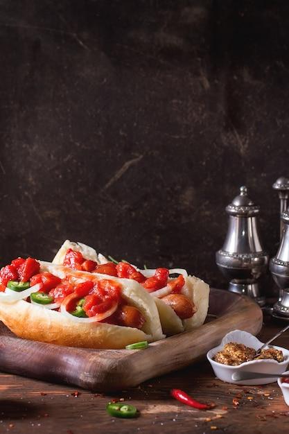 Hausgemachte hot dogs Premium Fotos