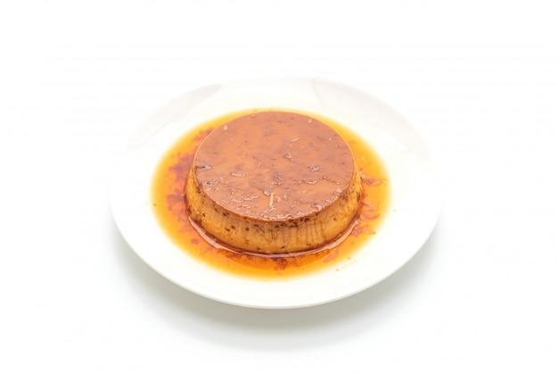 hausgemachter Karamellpuddingpudding Premium Fotos