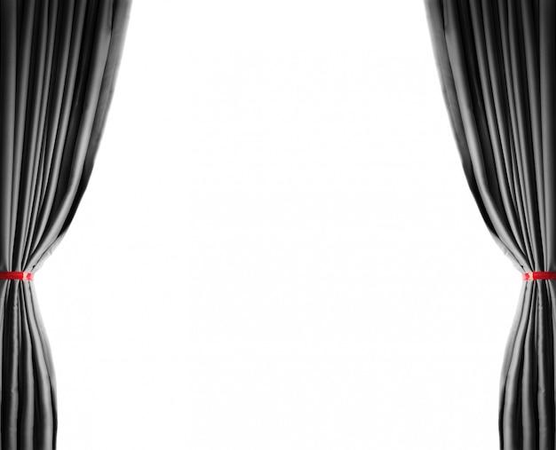 Hell beleuchtete vorhänge für ihren hintergrund Premium Fotos