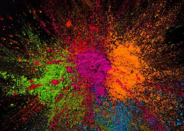 Helle mehrfarbige bespritzte holi-farben Kostenlose Fotos