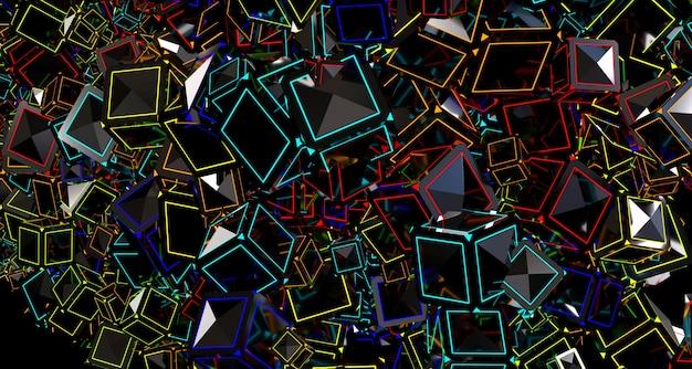 Heller abstrakter hintergrund mit würfeln. 3d-rendering. Premium Fotos