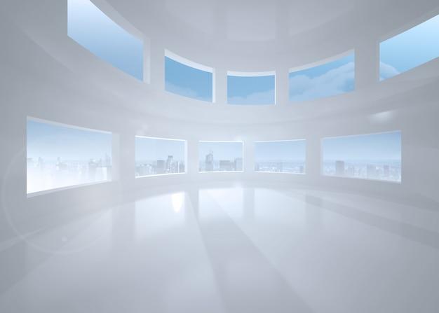 Heller Weißer Raum Mit Fenstern Download Der Premium Fotos