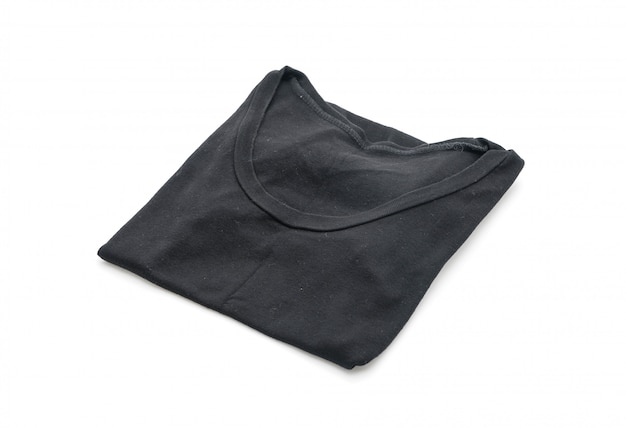 Hemd. gefaltetes t-shirt auf weiß Premium Fotos
