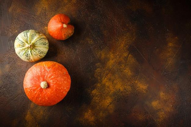 Herbst kürbis hintergrund Premium Fotos