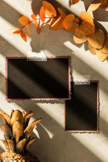 Herbst-moodboard-konzept mit kopierraum Kostenlose Fotos