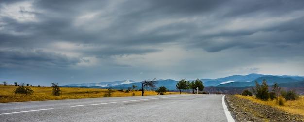 Herbstliche landschaft von kakheti-region Premium Fotos