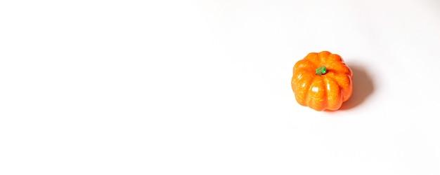 Herbstzusammensetzung, halloween-konzept. kürbis auf orange hintergrund. Premium Fotos