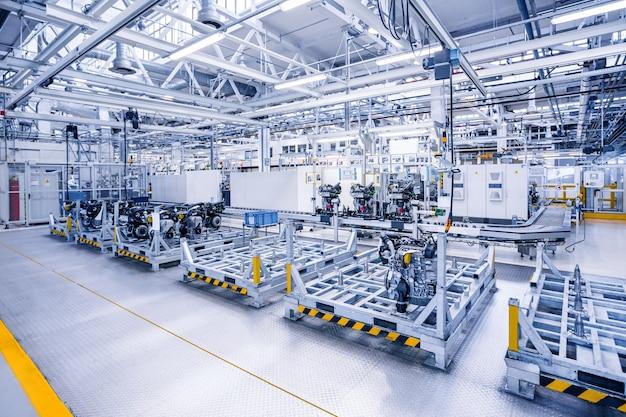 Herstellung von automotoren im autowerk Premium Fotos