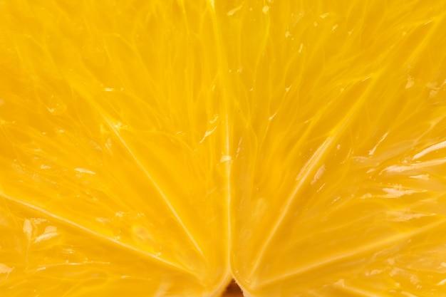Herz der orangenfrucht-extranahaufnahme in einem schnitt. Premium Fotos