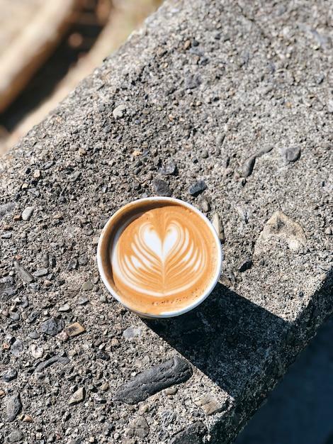 Herz latte kunst Kostenlose Fotos
