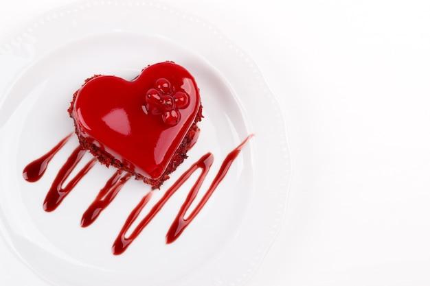 Herzförmiger kuchen Premium Fotos