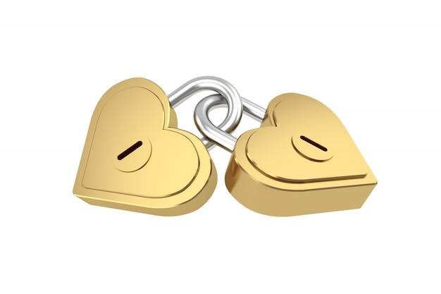 Herzform-hauptschlüssel, wiedergabe 3d. Premium Fotos