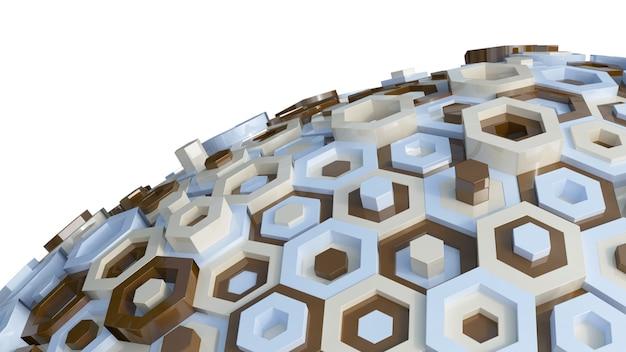 Hexagone in verschiedenen farben in der sphäre Kostenlose Fotos