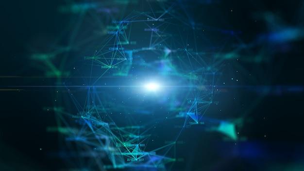 Hi-tech digital data network und netzwerkverbindung Premium Fotos