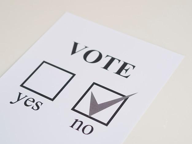 High angle referendum negative wahl Kostenlose Fotos