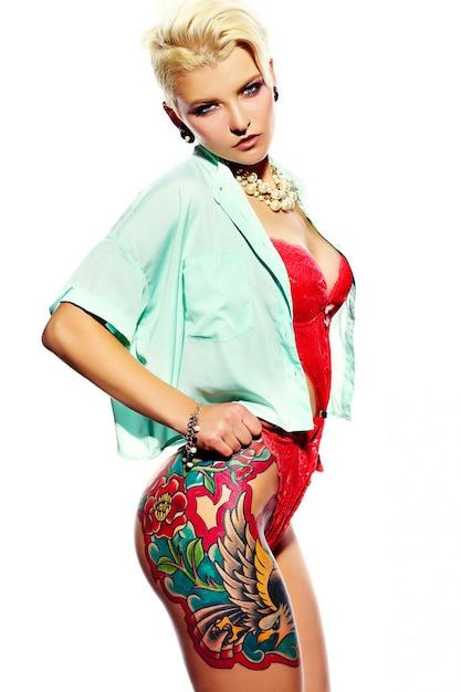 High fashion look.glamour nahaufnahme porträt von schönen