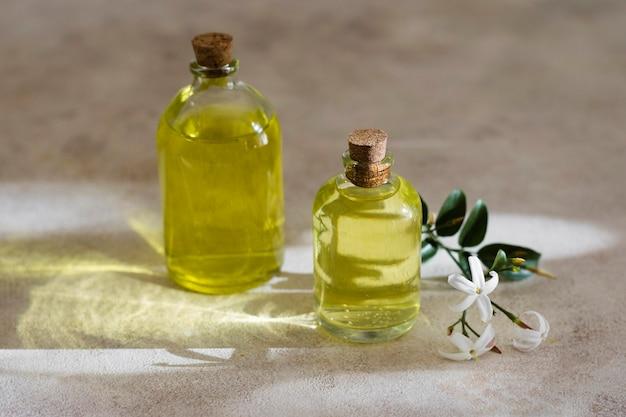 High view natürliche olivenöle Kostenlose Fotos