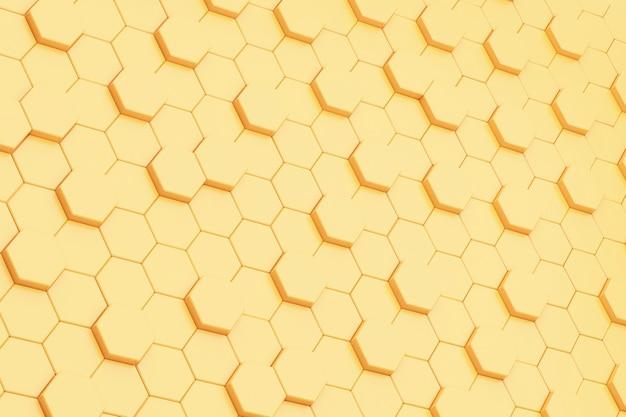 Hintergrund der abstraktion gelber sechsecke Premium Fotos