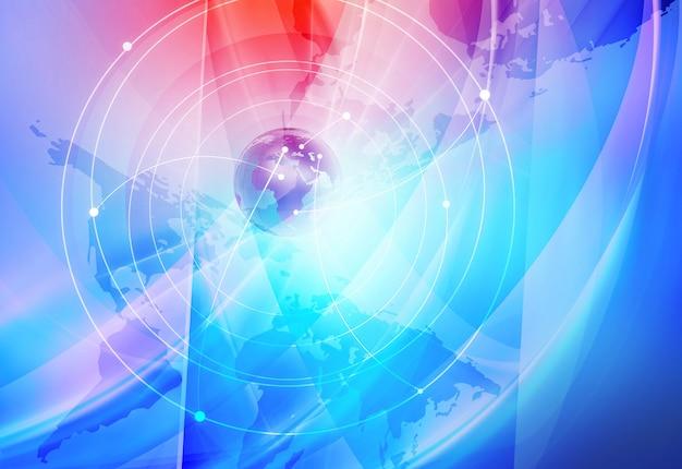 Hintergrund der globalen internetverbindungen Premium Fotos