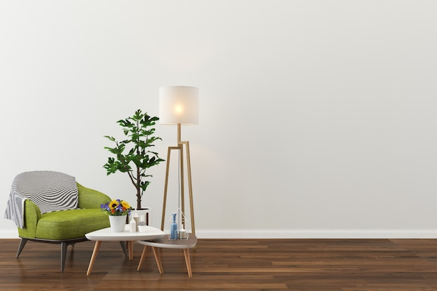 Hintergrund der hausinnenbodenschablone des wohnzimmers Premium Fotos