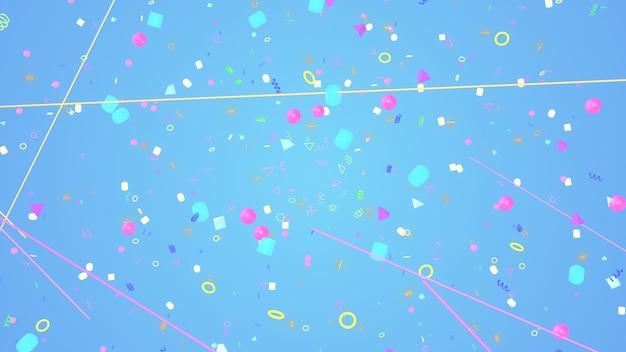 Hintergrund der illustration 3d für die werbung und tapete in der gatsby- und art deco-szene. wiedergabe 3d im dekorativen konzept Premium Fotos