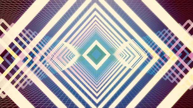 Hintergrund der illustration 3d für die werbung und tapete in der gatsby- und art deco-szene. Premium Fotos
