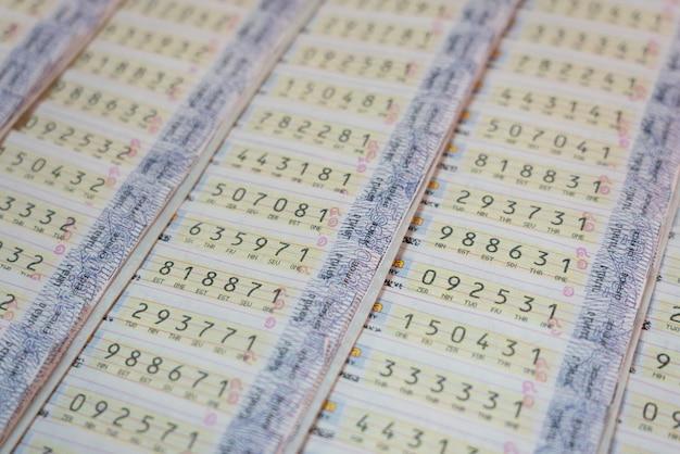 Hintergrund der thailand-lotterie Premium Fotos