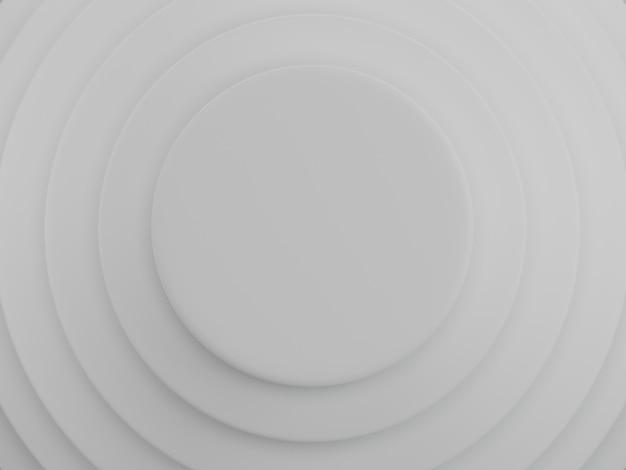 Hintergrund der weißen kreise. abstraktes muster für webseite, vorlage, hintergrund oder broschürenabdeckung. 3d-rendering. Premium Fotos