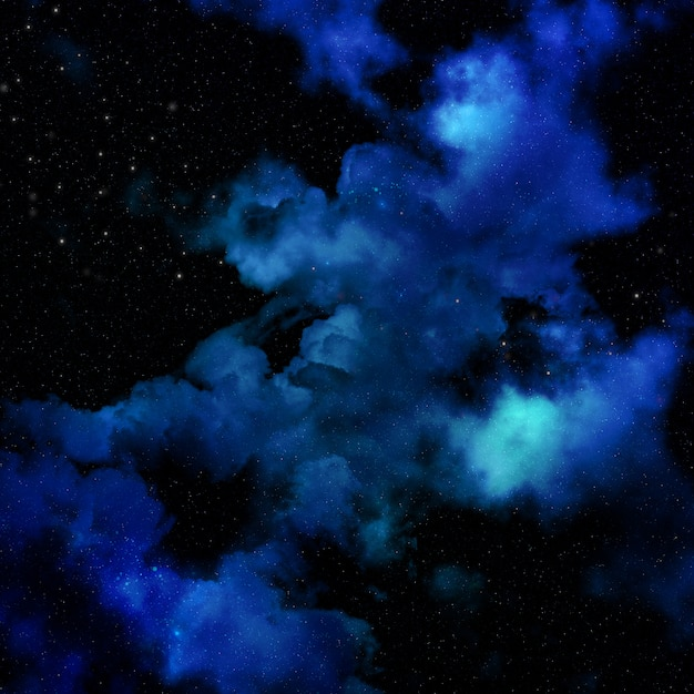 Hintergrund des raumes 3d mit nebelfleckhimmel Kostenlose Fotos