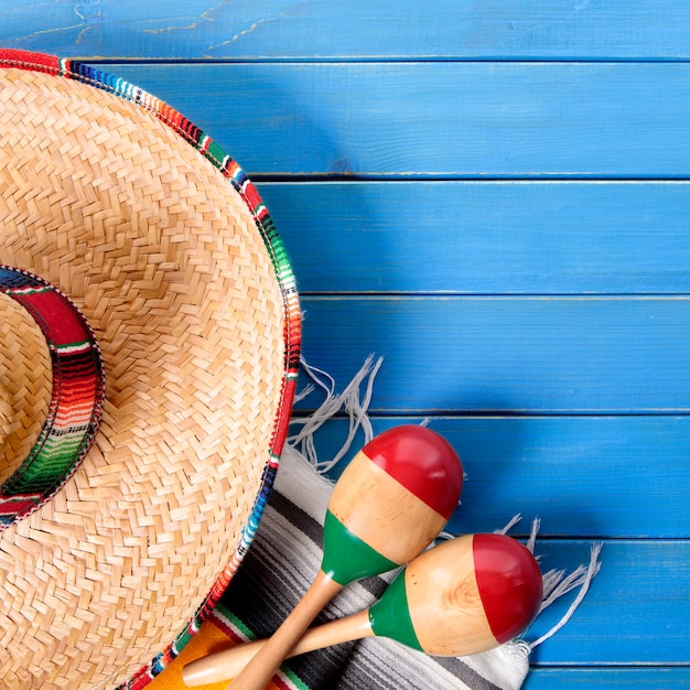 Hintergrund-grenzquadratformat mexiko cinco de mayo Premium Fotos
