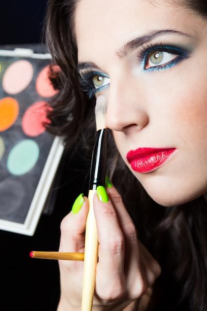 Hintergrund lippen porträt lippenstift haut Kostenlose Fotos