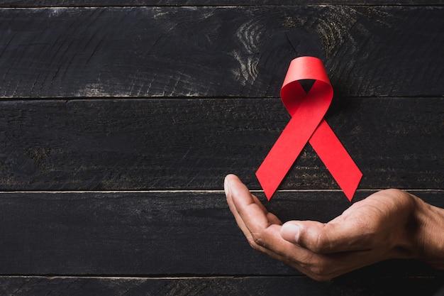 Hintergrundbild für den welt-aids-tag. Premium Fotos