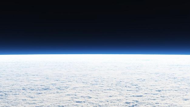 Hintergrundbild von view on the cloud in der landschafts- und weltraumszene. Premium Fotos