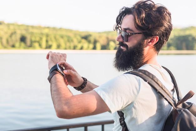 Hipster im urlaub am see Kostenlose Fotos