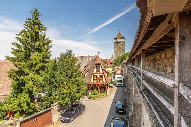 Historische stadt rothenburg ob der tauber Premium Fotos