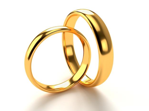 Hochzeitsgoldringe Premium Fotos