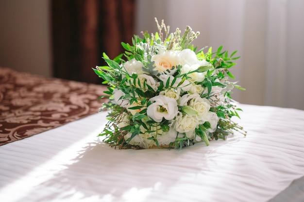 Hochzeitsstraußnahaufnahme. Premium Fotos