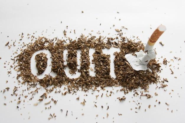 Hör auf zu rauchen Premium Fotos